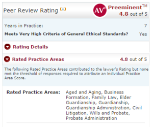 Martindale-Hubbell Rating View